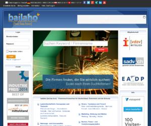 Die Firmensuchmaschine Bailaho bringt Firmen aus der Industrie zusammen
